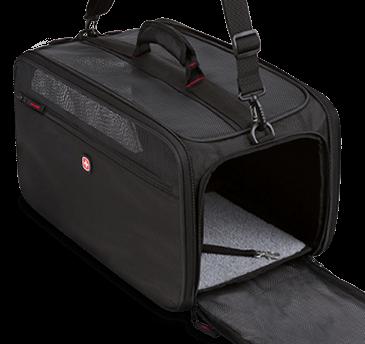 SwissGear 3323 Carry-On Pet Carrier with front door open